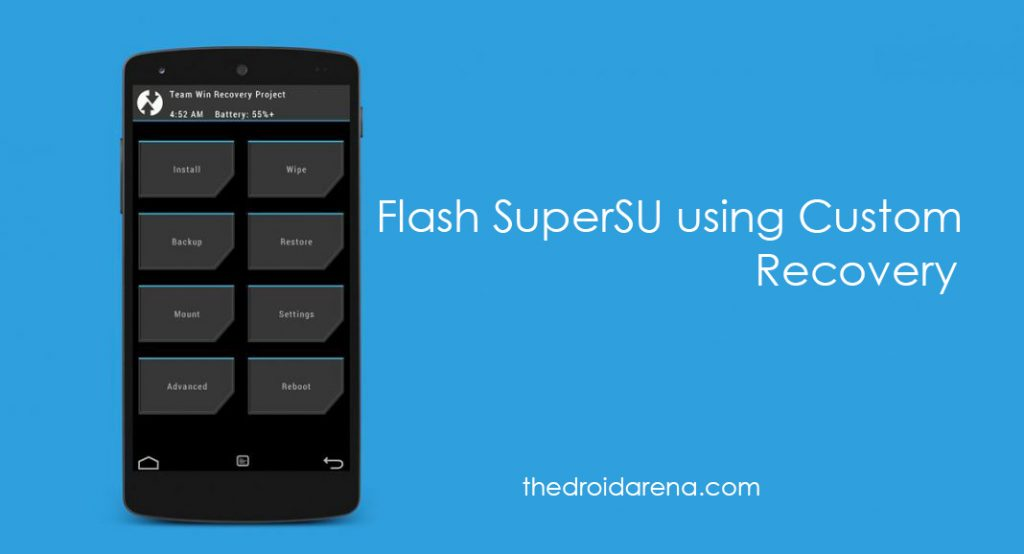 Flash SuperSU using Custom Recovery