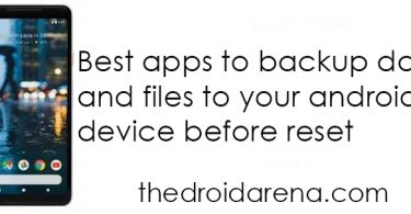 Best Apps to back up files before reset