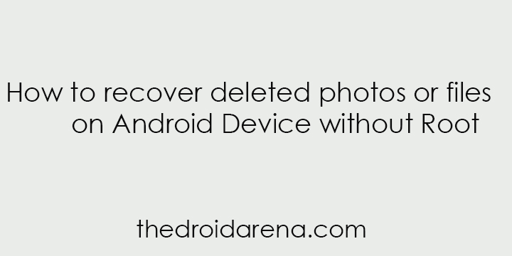 Recover deleted files android