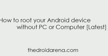 Root android device without PC