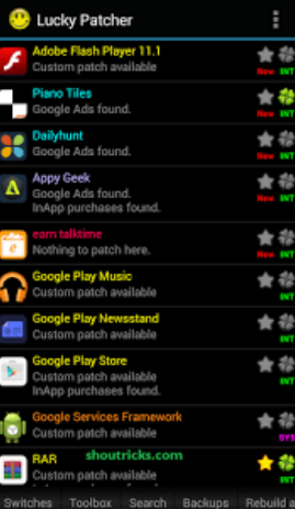 All Apps on Lucky Patcher