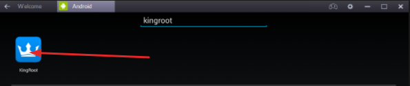 Kingroot on BlueStacks