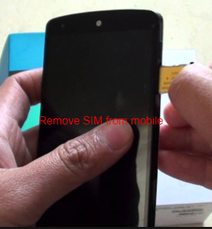 Remove SIM from mobile
