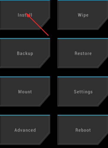Tap on Install from TWRP Recovery
