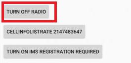 Tap on Turn off Radio