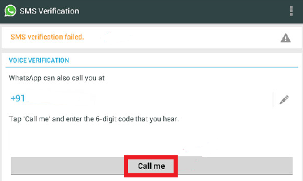 WhatsApp Verification