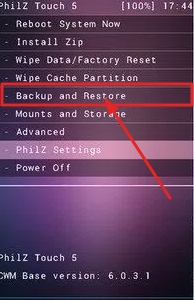 Backup and Restore on Philz Recovery
