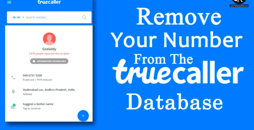 Removing your Phone Number from Truecaller Data Base