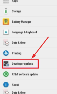 Activate developer options