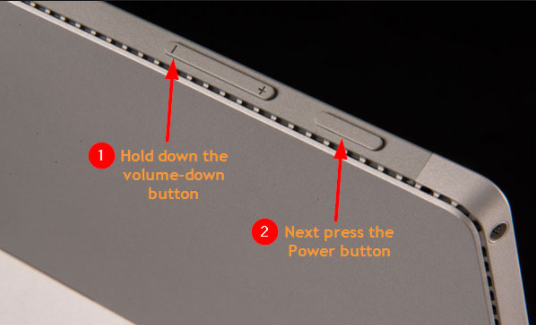 hold power and volume down button