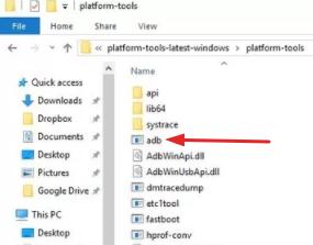 open ADB folder