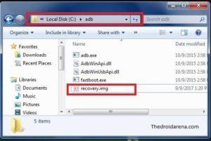 ADB and fastboot folder