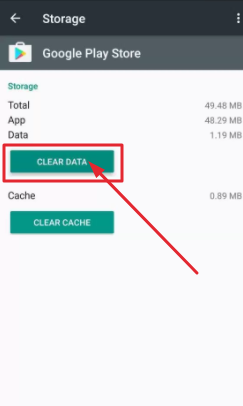 Clear Data for Google Play Store