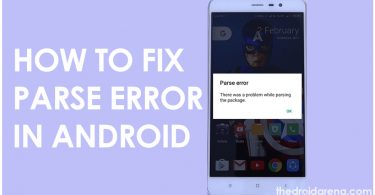 how to Fix parse error in android
