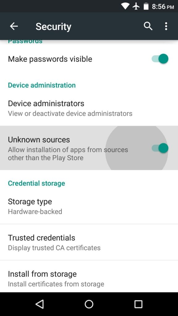Unknown sources Apk OBB and Data Files Android