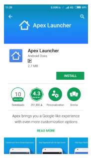 Apex Launcher to Hide Android Apps