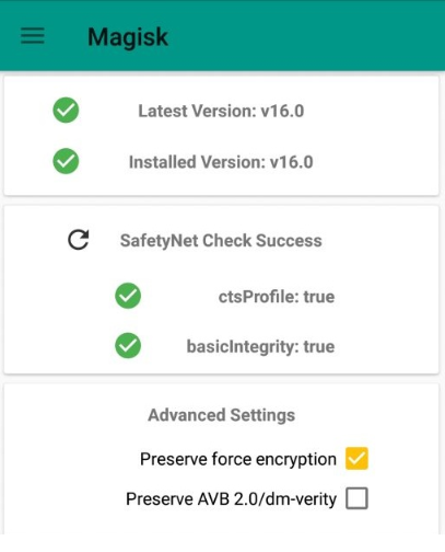 Enable Magisk different systems