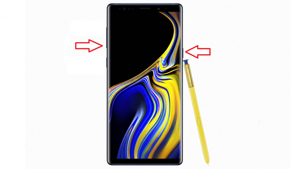 How to take a screenshot on the Samsung Galaxy Note 9 using the hardware button