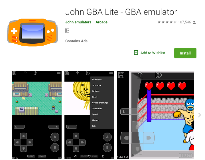 John GBA Emulator lite Download on Android