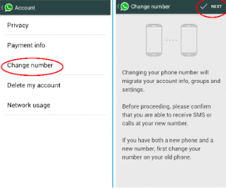 Change Number of Old number to +1 USA fake number