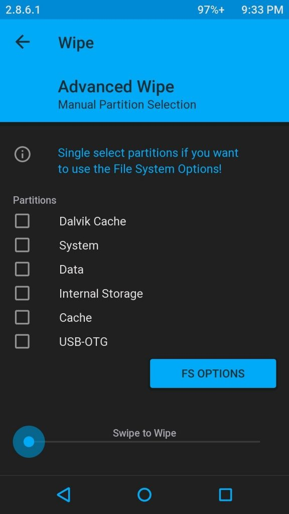 Factory reset OnePlus 5/5T with TWRP