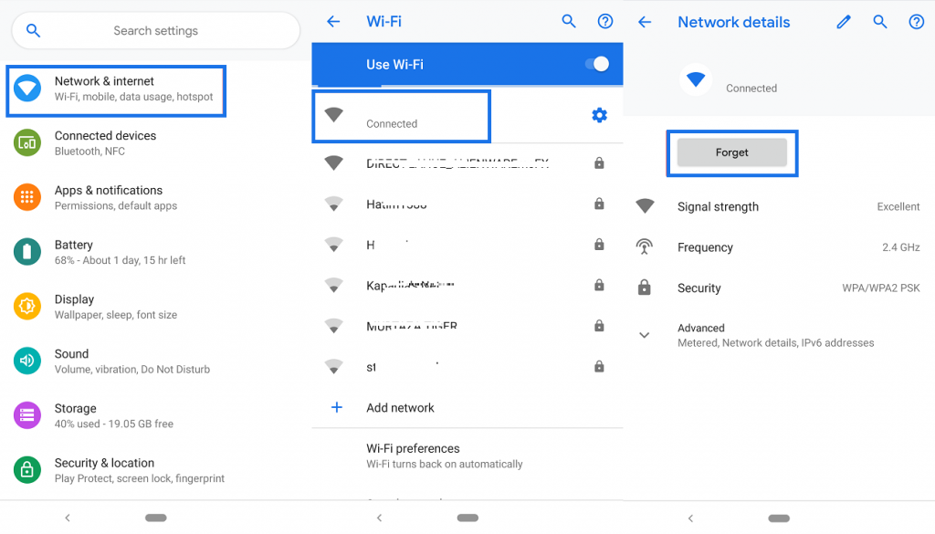 Wi-Fi problem on Android Pie