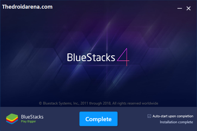 Complete BlueStacks 4 installation process