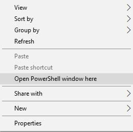 Open a powershell window on your PC