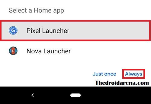 Choose Pixel launcher