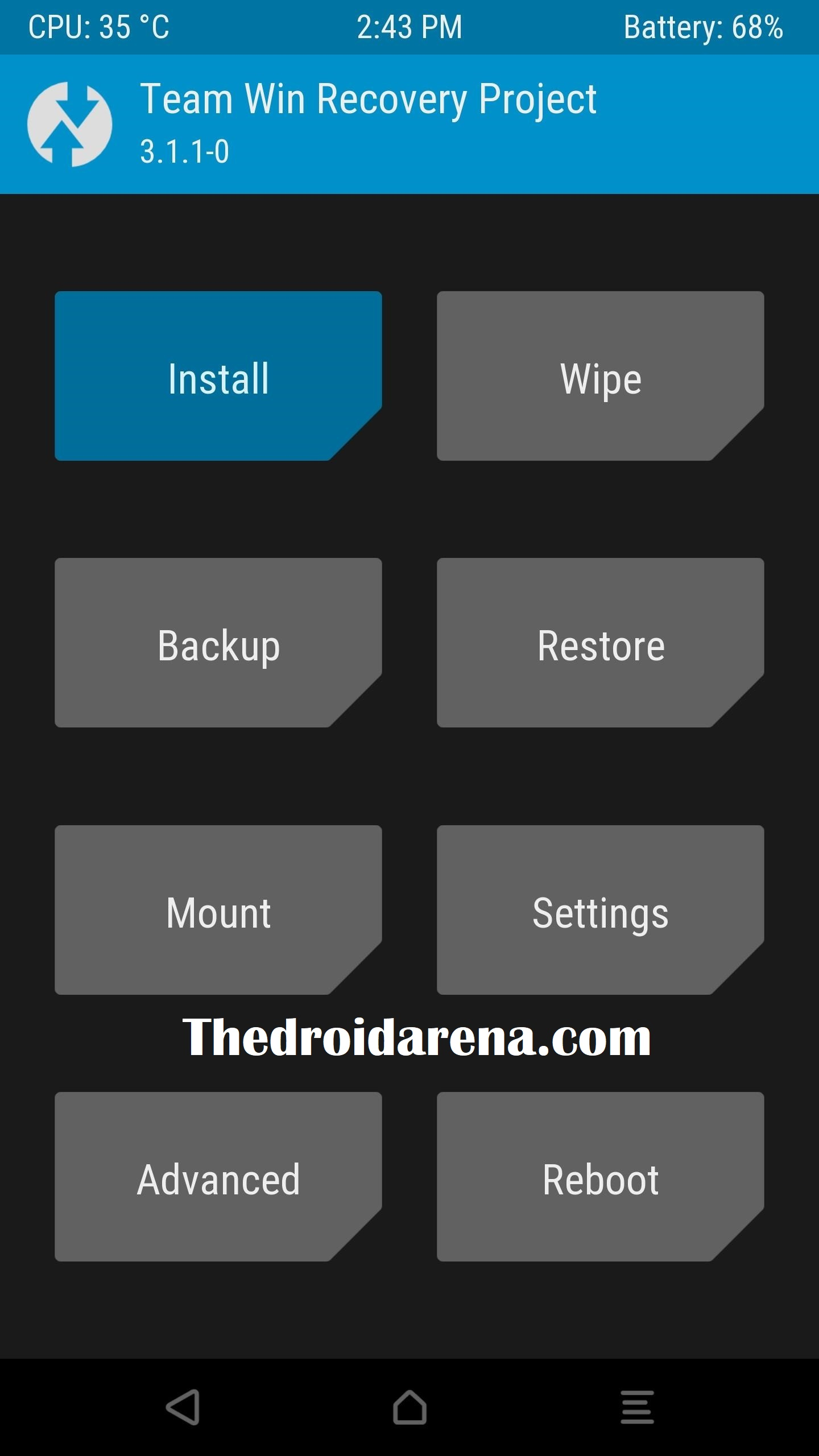 Go to the Install under TWRP